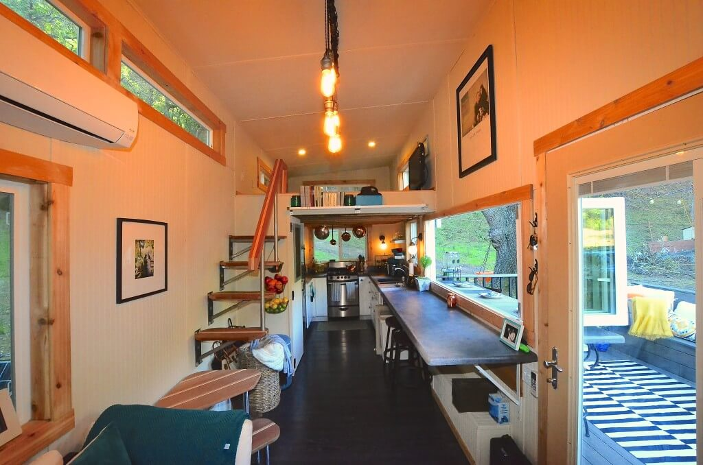 A Open Concept Tiny House, No Hallways Here