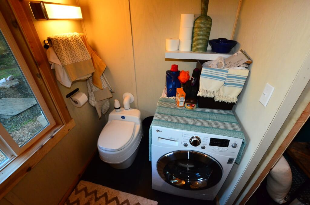 Tiny house walk through interior tiny house basics for Tiny house washer dryer
